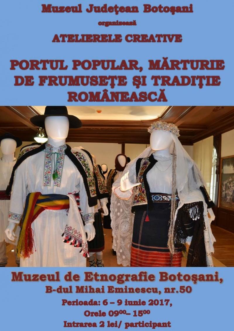 Portul popular, mărturie de frumusețe și tradiție românească - la Muzeul de Etnografie Botoșani!