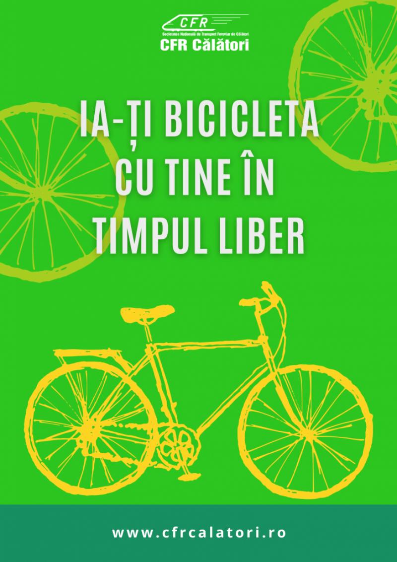 Posibilități de transport pentru biciclete, la CFR Călători