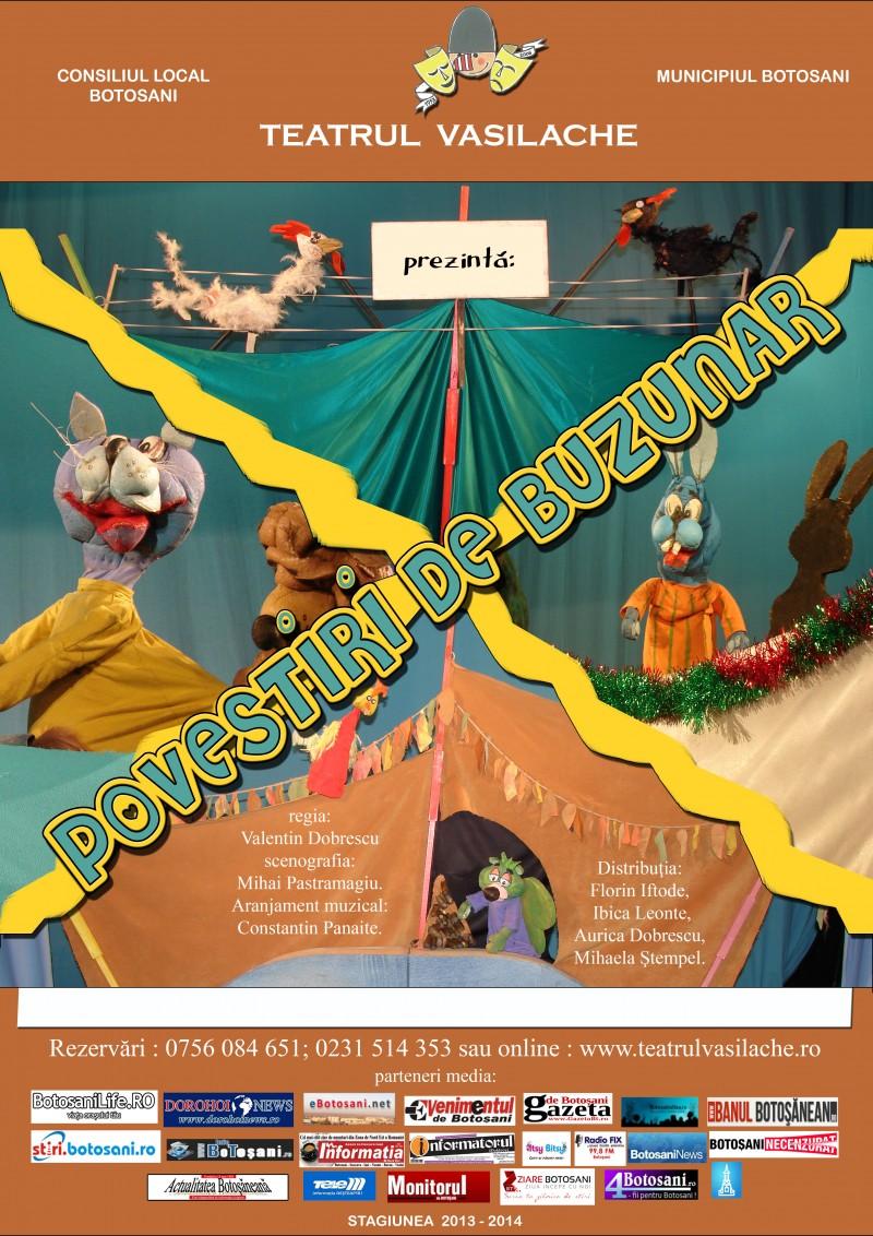 Povestiri de buzunar, duminică, la Teatrul pentru Copii şi Tineret Vasilache!