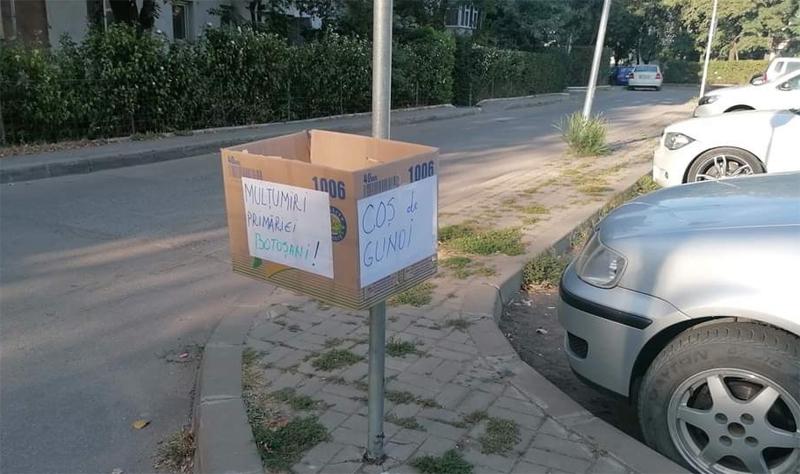 Poza zilei: Încă un coș de gunoi la Botoșani