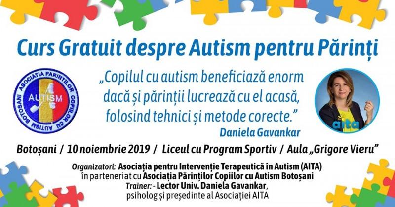 Pregătire gratuită pentru părinții copiilor cu autism din Botoșani