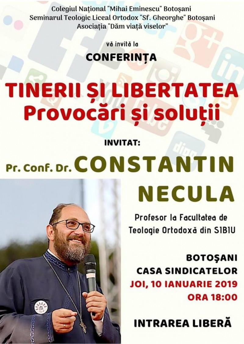 Preotul Constantin Necula conferențiază la Botoșani!