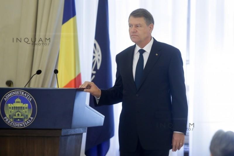 Preşedintele Iohannis se adresează Parlamentului în legătură cu modificarea legislaţiei penale