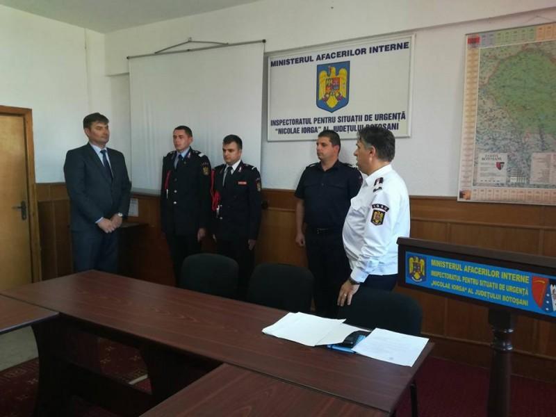 Prim adjunct nou la Inspectoratul pentru Situații de Urgență Botoșani
