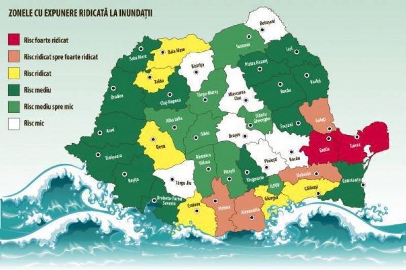 Prima hartă cu zonele cele mai expuse la dezastre!