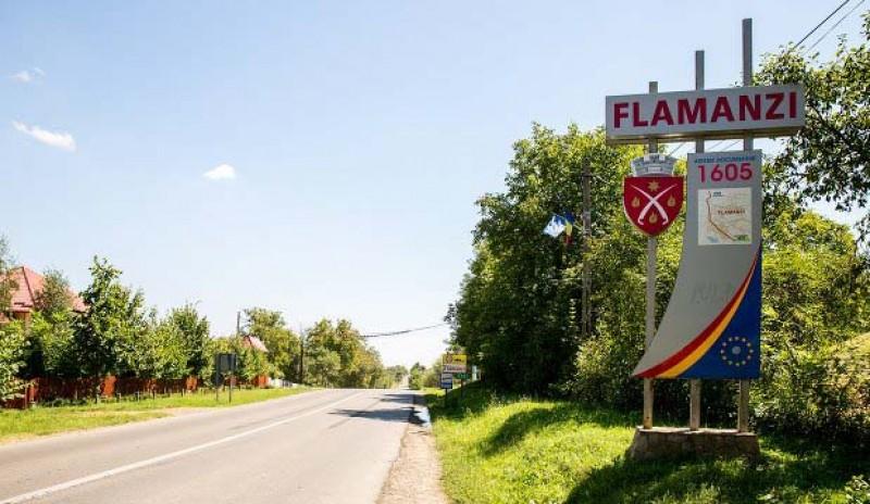 Primăria Flămânzi amenajează trotuare pe ambele părți ale drumului Botoșani – Iași din localitate