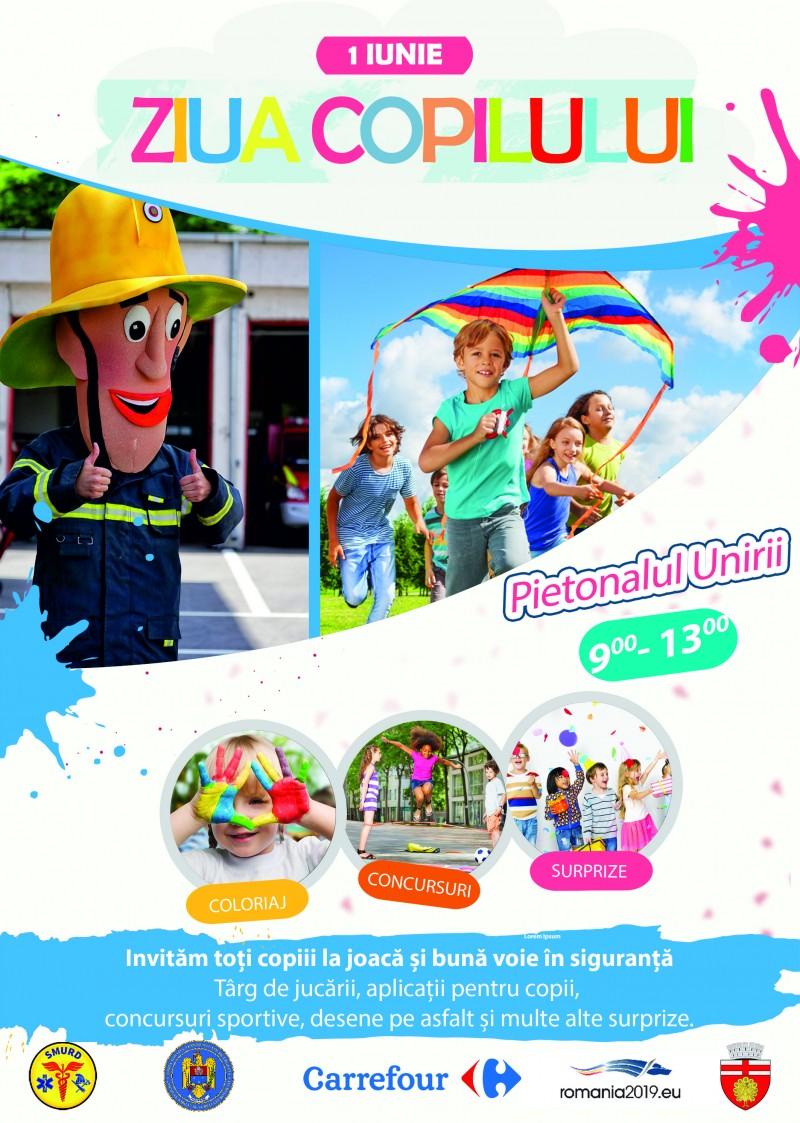 Primăria organizează și în acest an activități pentru copii și nu numai, pe Pietonalul Unirii