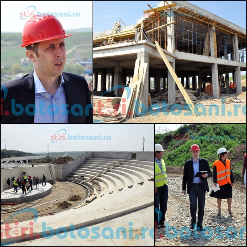 Primarul Ovidiu Portariuc a vizitat santierul de la Parcul Cornisa! VEZI cand va avea loc inaugurarea! FOTO, VIDEO