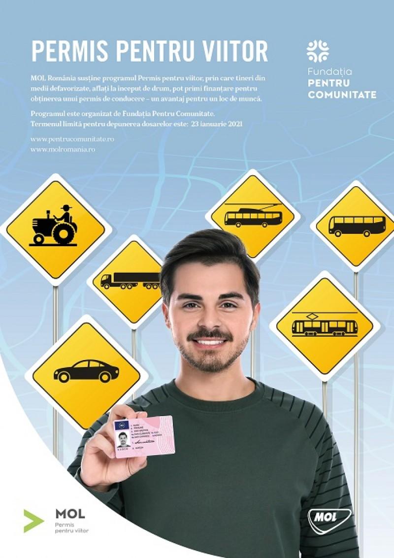 """Prin programul """"Permis pentru viitor"""", tinerii din mediile defavorizate sunt ajutați să obțină permisul de conducere"""