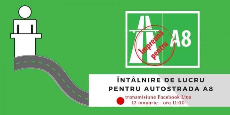 Problema autostrăzii A8, dezbătută LIVE pe Facebook. Printre invitați, și președintele Consiliului Județean Botoșani