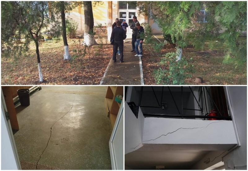 Probleme sesizate la o școală din Botoșani, după cutremurul de sâmbătă! FOTO