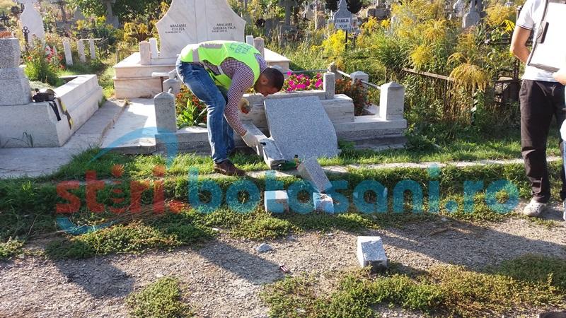 Profanatorii din Cimitirul Eternitatea rămân în atenţia anchetatorilor. Unul are o condamnare definitivă şi riscă puşcăria