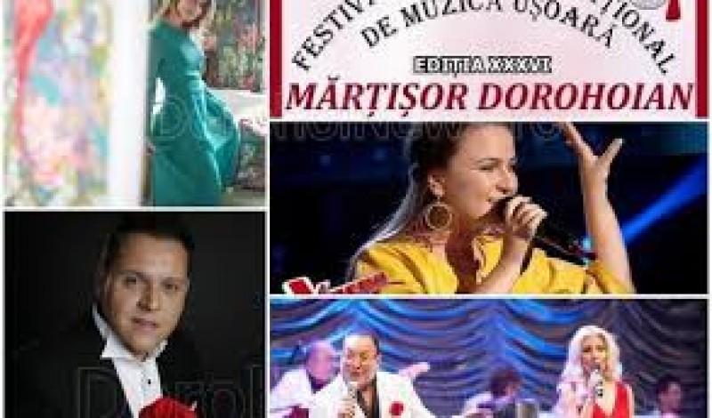 """Programul Festivalului Național de Muzică Ușoară Românească """"Mărțișor Dorohoian"""" 2019"""