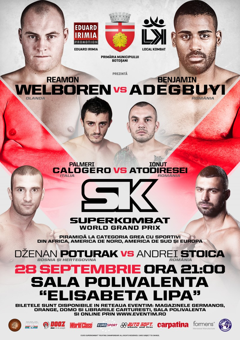Programul galei Superkombat World Grand Prix Botoşani: Duelul coloşilor în main-event! Vezi cat costa biletele!
