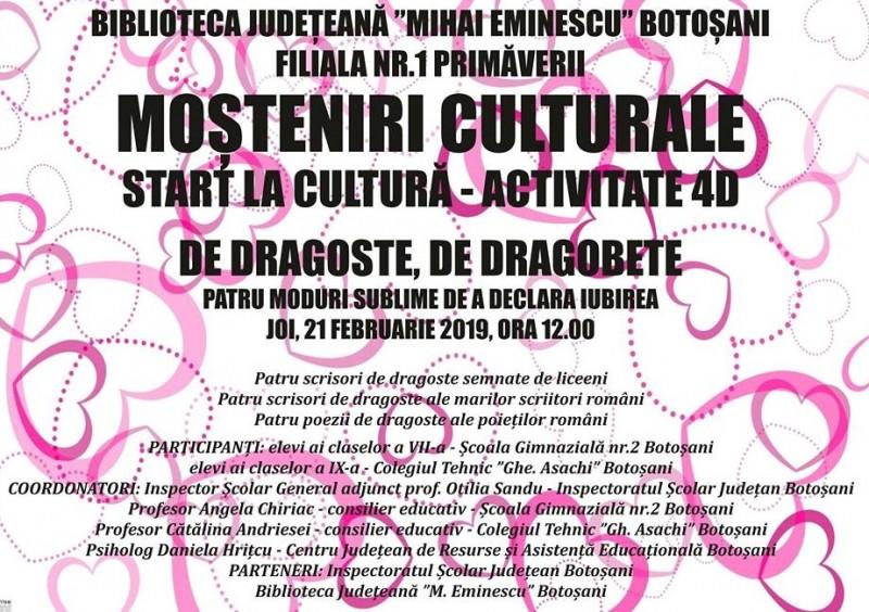"""Proiectul regional """"Moșteniri culturale"""", la Biblioteca Județeană"""