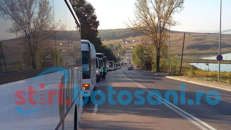 Protest al transportatorilor! Mai multe autocare și microbuze de transport persoane din Botoșani vor fi retrase de pe traseu!