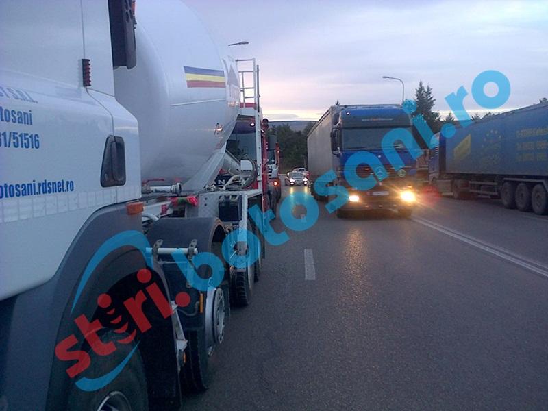 Protest al transportatorilor pe străzile din Botoşani! Traficul se va desfăşura cu dificultate!