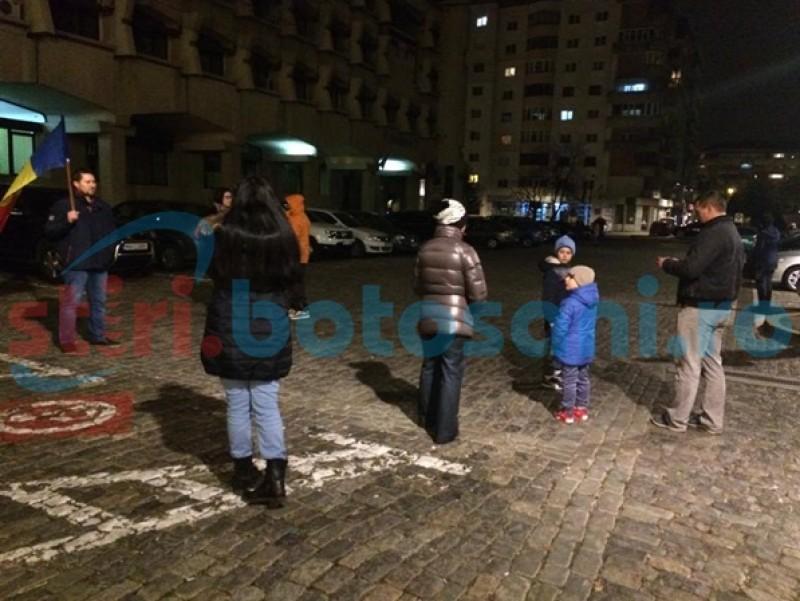 Protest anemic la Botoşani-FOTO