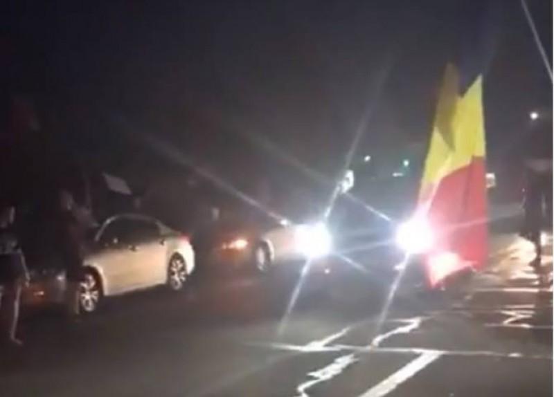 Protest Diaspora. Prima coloană de mașini din Marea Britanie a ajuns în țară - VIDEO