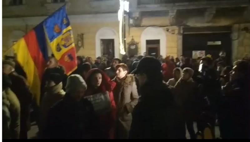 Protest în Cluj împotriva modificărilor legilor Justiţiei