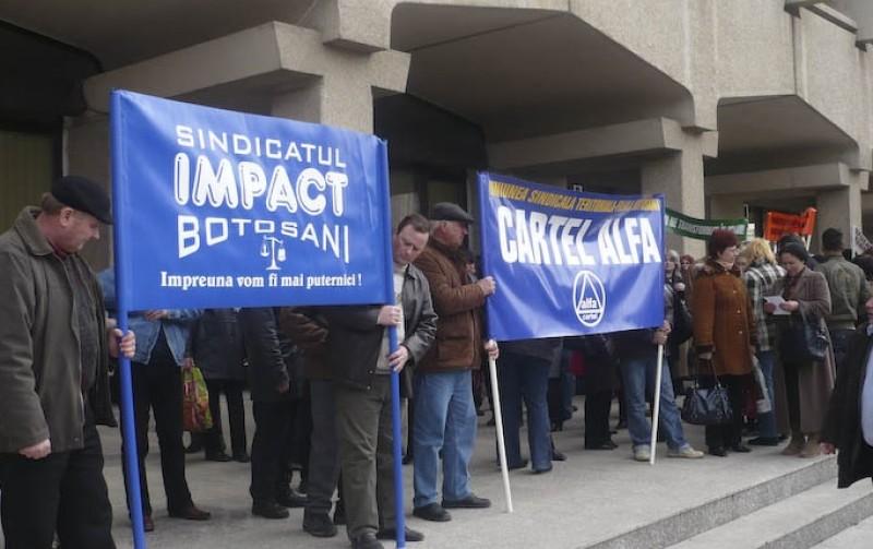 Protest în fața Instituției Prefectului din Botoșani!