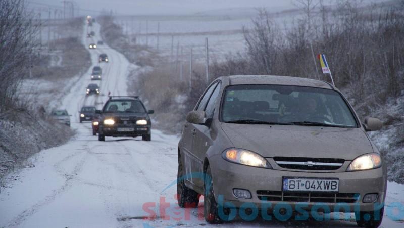 Protest pentru drumuri mai bune în județul Botoșani - FOTO