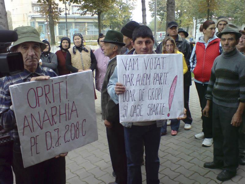 Protestatarii de la Vorona, ignorati de autoritati