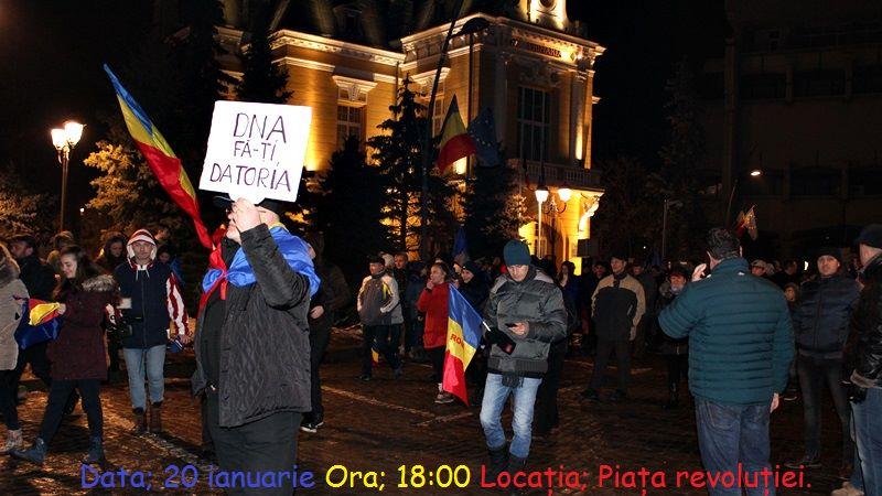 Protestul REZIST, de la Botoșani, atent supravegheat de jandarmi