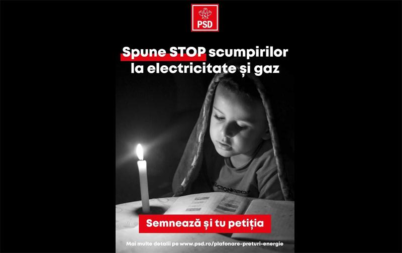 PSD Botoșani: Botoșănenii sunt invitați să se alăture campaniei de strângere de semnături pentru susținerea plafonării prețurilor la electricitate și gaze naturale