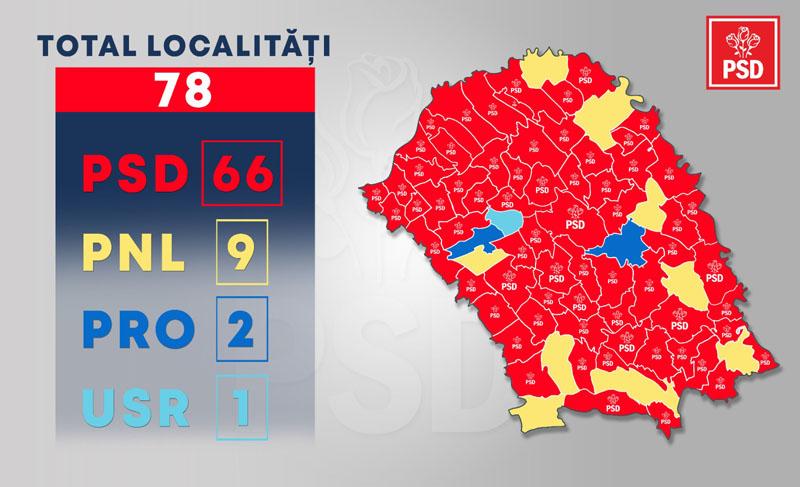 PSD câștigă detașat alegerile de la Botoșani. Se știu deputații și senatorii