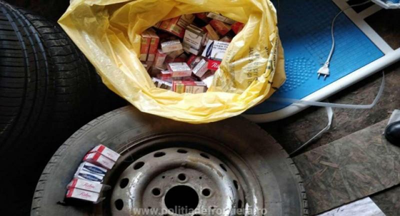Punctul de Trecere a Frontierei Rădăuţi Prut: roată de rezervă cu ţigări de contrabandă, depistată de polițiști la un control de rutină