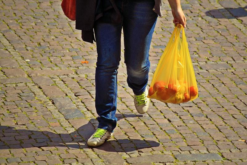 Pungile din plastic subtire, cu maner - interzise in Romania