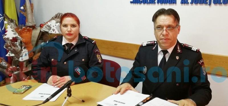 Purtătorul de cuvânt al ISU Botoşani a trecut în corpul ofiţerilor