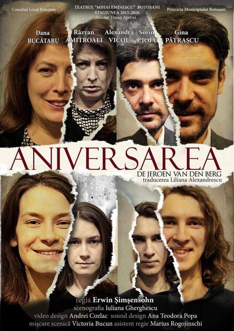 """""""Aniversarea"""", pe scena Teatrului Eminescu Botosani!"""