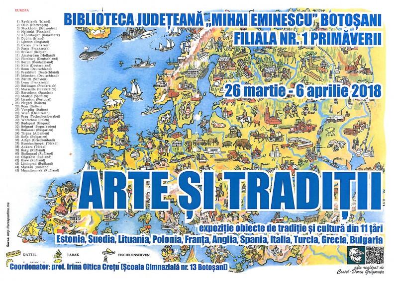 """""""Arte si tradiții europene"""" în Bibliotecă"""
