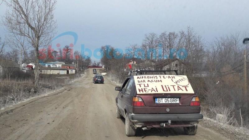 """""""Asfaltaţi DN 24 C!""""- singura revendicare a protestatarilor de la Miorcani! FOTO"""
