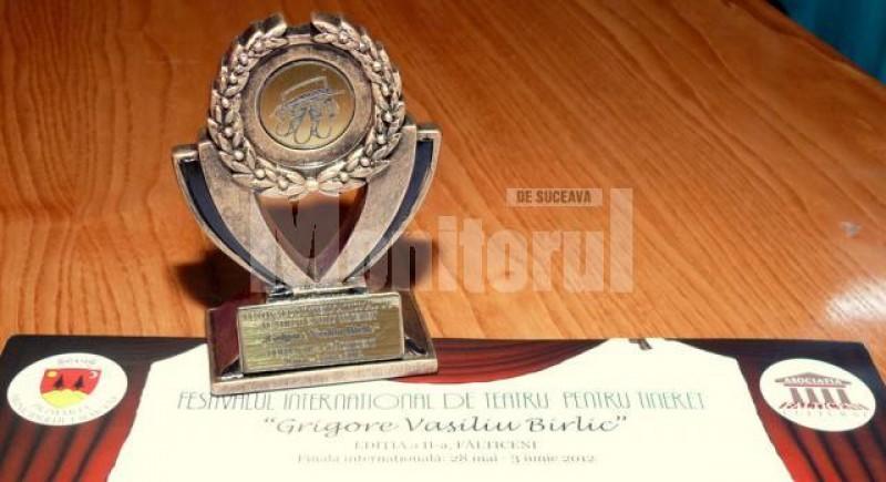 """""""Atelierul de teatru"""" din Botoşani a câştigat Marele premiu al Festivalului """"Grigore Vasiliu Birlic"""""""