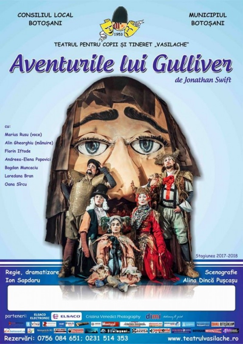 """""""Aventurile lui Gulliver"""", la Teatrul pentru Copii și Tineret """"Vasilache"""""""