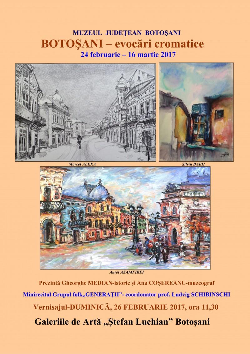 """""""Botoşani – evocări cromatice"""", la Galeriile de Artă """"Ştefan Luchian"""" Botoșani"""
