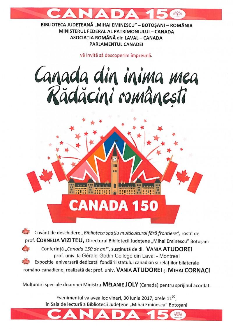 """""""Canada din inima mea. Rădăcini româneşti"""""""