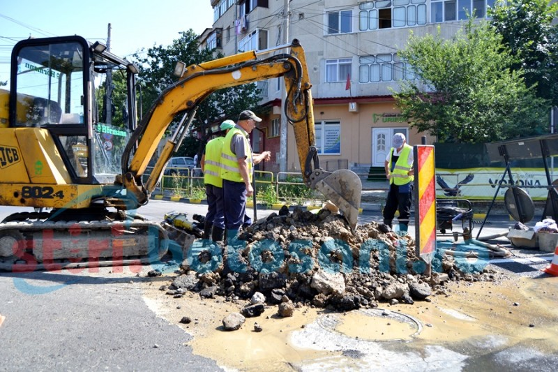 """""""Cartierul bogaţilor"""" şi botoşănenii din trei comune, afectaţi de o pierdere majoră de apă! FOTO"""