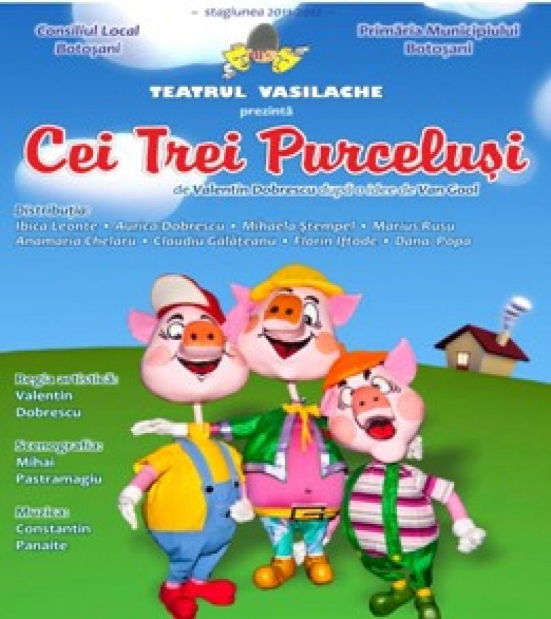 """""""Cei trei purceluşi"""", in premiera la Teatrul Vasilache!"""