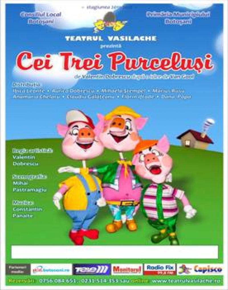 """""""Cei trei purcelusi"""", la Teatrul Vasilache"""