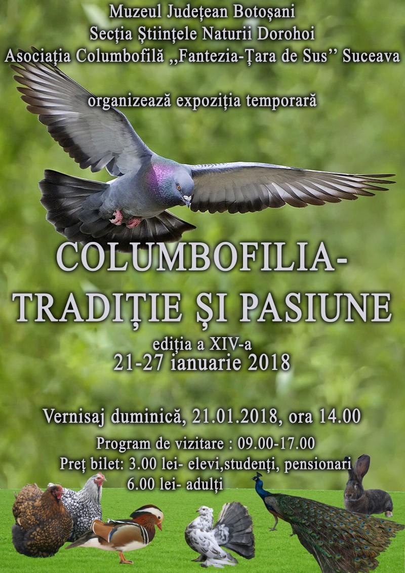 """""""Columbofilia - tradiţie şi pasiune"""", ediţia a XIV-a, la Dorohoi!"""