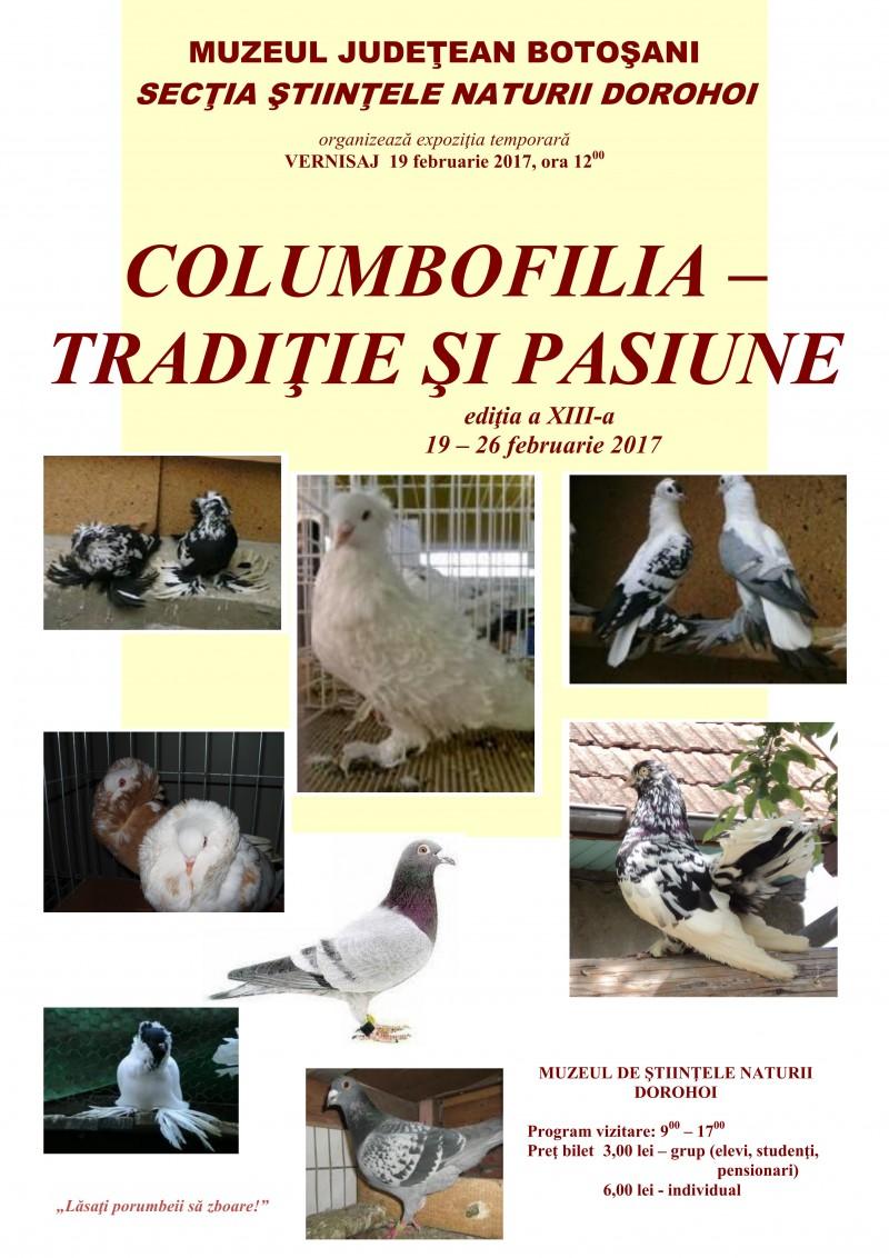"""""""Columbofilia – tradiţie şi pasiune"""", la Muzeul de Ştiinţele Naturii Dorohoi"""