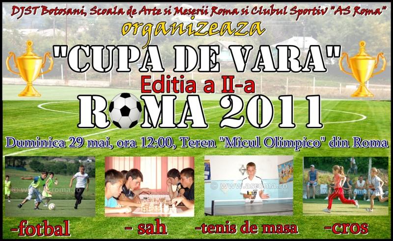 """""""Cupa de vara"""" Roma 2011, dedicata anul acesta doar copiilor!"""