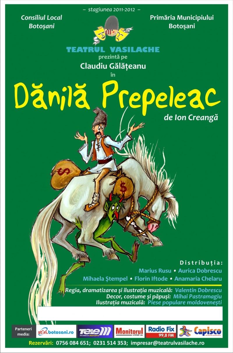 """""""Dănilă Prepeleac"""", duminică, la Teatrul Vasilache!"""