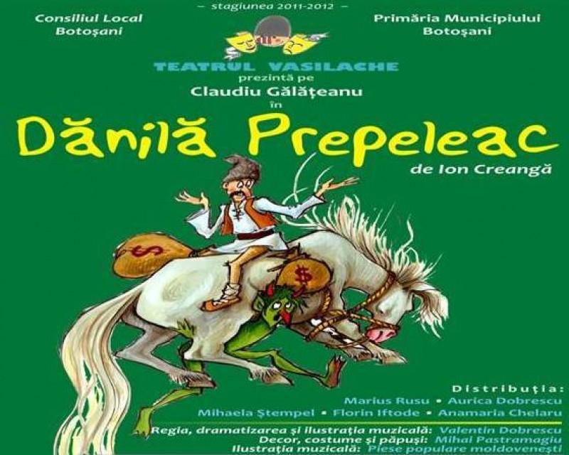 """""""Dănilă Prepeleac"""" vine, duminică, la Teatrul Vasilache!"""