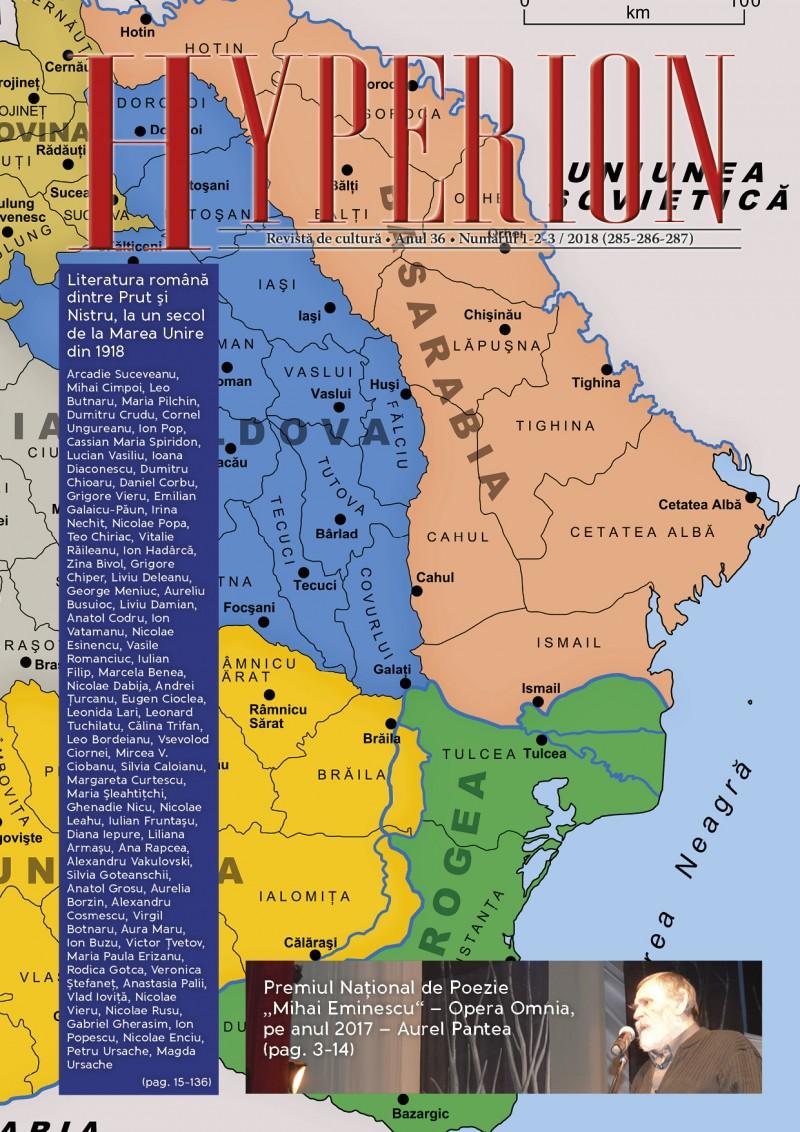 """""""Hyperion"""" - o revistă care face istorie: Literatura română dintre Prut și Nistru, la un secol de la Marea Unire din 1918"""