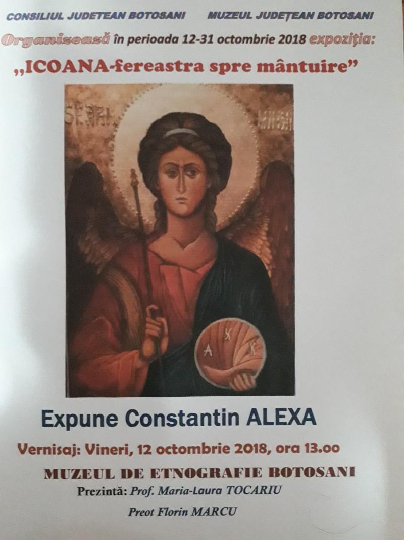 """Icoana - Fereastra spre mântuire"", expoziție de icoane la Muzeul de Etnografie Botoșani"